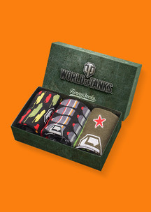 Женские носки Funny Socks: Набор Закаленная сталь (World of Tanks)
